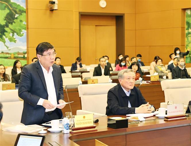 Trong ảnh: Chủ tịch UBND Thành phố Hồ Chí Minh Nguyễn Thành Phong phát biểu ý kiến. Ảnh: Trọng Đức - TTXVN