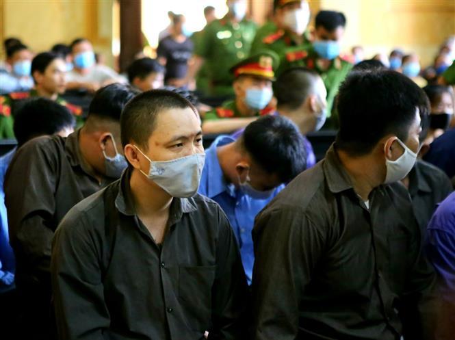 Trong ảnh: Bị cáo Phạm Thanh Tâm (Tý Bà Dòm). Ảnh: Thành Chung - TTXVN