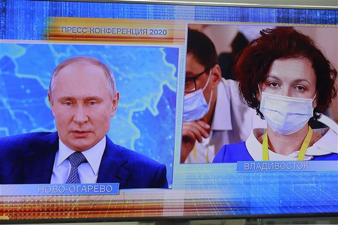 Họp báo năm 2020 của Tổng thống Nga Vladimir Putin được tổ chức trực tuyến