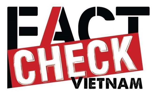 Logo Không Factcheck Vietnam. Ảnh: TTXVN