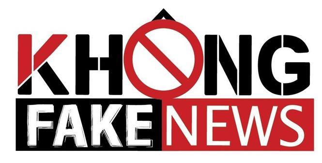 Logo Không Fake News. Ảnh: TTXVN