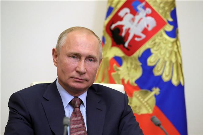 Tổng thống Nga Vladimir Putin tại cuộc họp báo ở Moskva. Ảnh: AFP/TTXVN