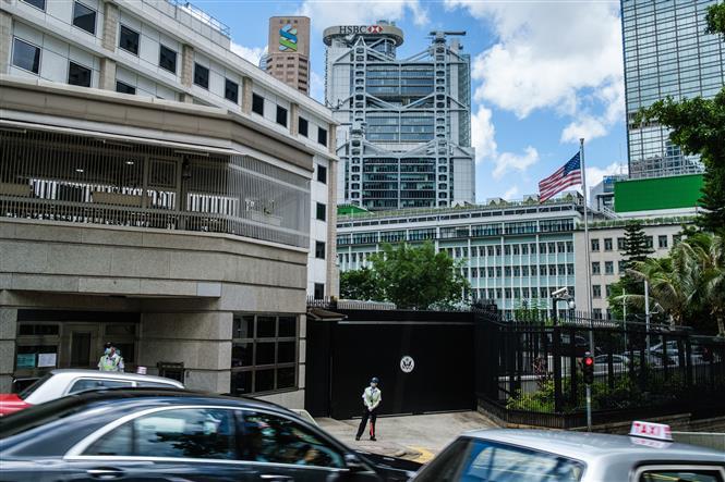Lãnh sự quán Mỹ tại Hong Kong, Trung Quốc. Ảnh: AFP/TTXVN