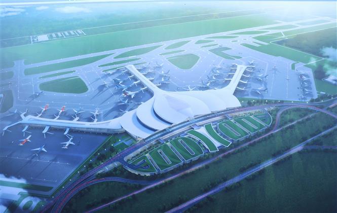 Sơ đồ Dự án đầu tư xây dựng Cảng hàng không quốc tế Long Thành giai đoạn 1. Ảnh: Thống Nhất – TTXVN