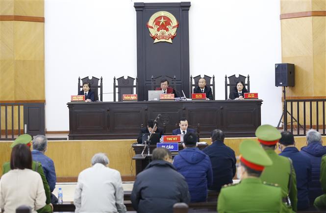 Quang cảnh phiên xét xử. Ảnh: Doãn Tấn - TTXVN