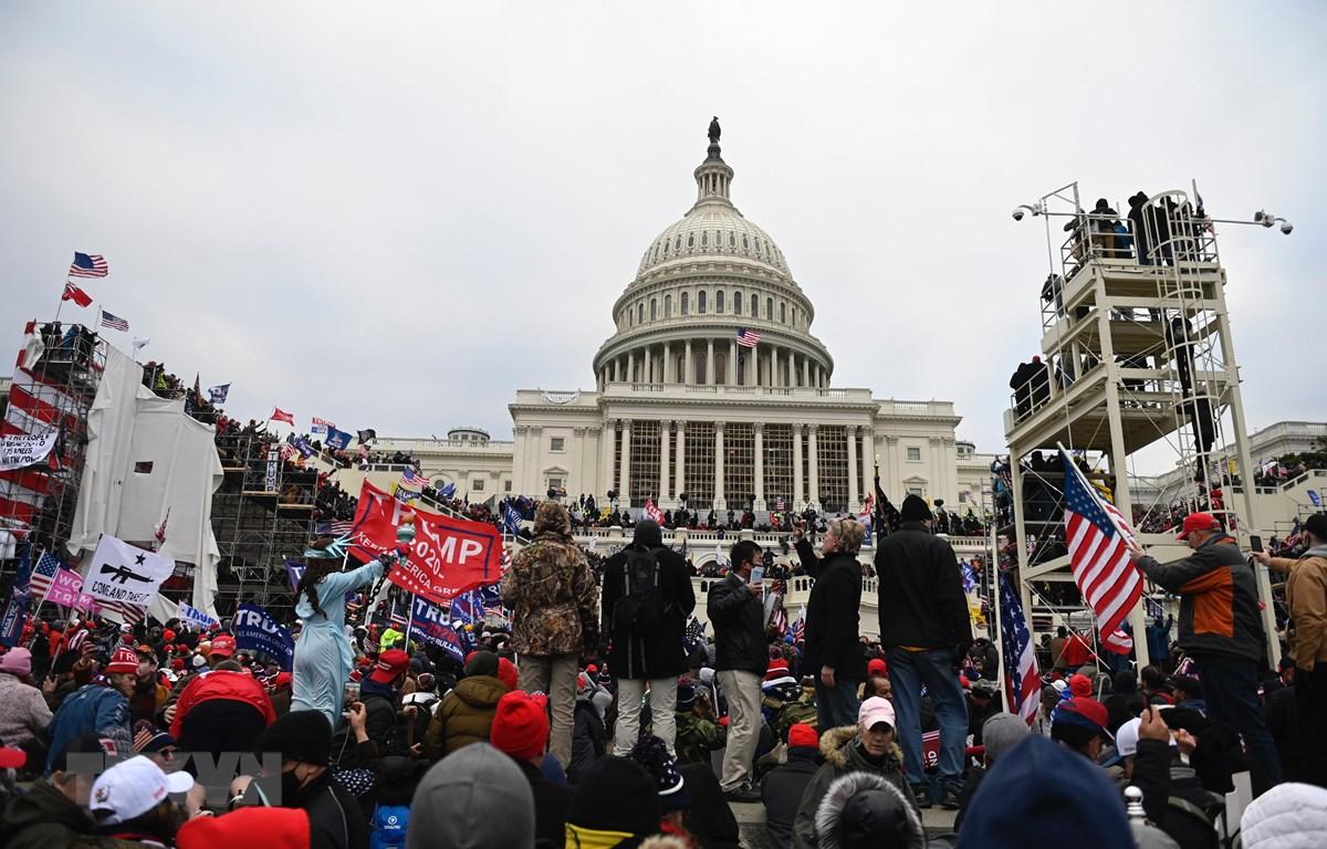 Bạo loạn xảy ra tại trụ sở Quốc hội Mỹ gần đây