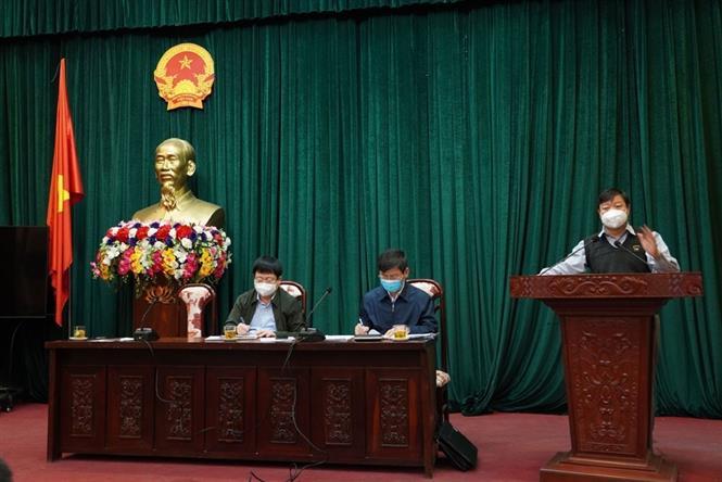 Trong ảnh: Tiến sĩ Trần Như Dương, Phó viện trưởng Viện vệ sinh dịch tễ Trung ương, phát biểu tại cuộc họp. Ảnh: Mạnh Minh - TTXVN