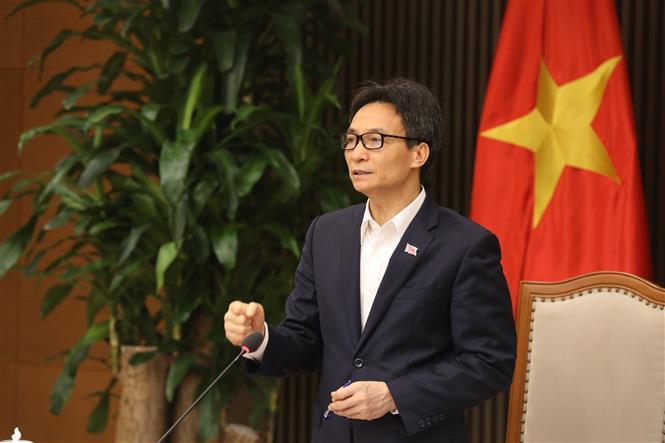 Phó Thủ tướng Vũ Đức Đam phát biểu chỉ đạo. Ảnh: Minh Quyết - TTXVN