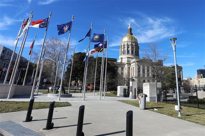 Trong ảnh: Tòa nhà Thượng viện bang Georgia ở Atlanta ngày 4/1/2021. Ảnh: THX/TTXVN