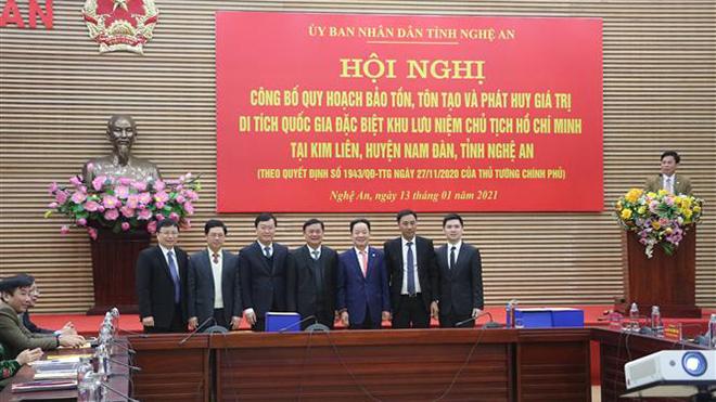 Công bố Quy hoạch bảo tồn, tôn tạo, phát huy giá trị Di tích Quốc gia đặc biệt Khu lưu niệm Chủ tịch Hồ Chí Minh tại Nghệ An