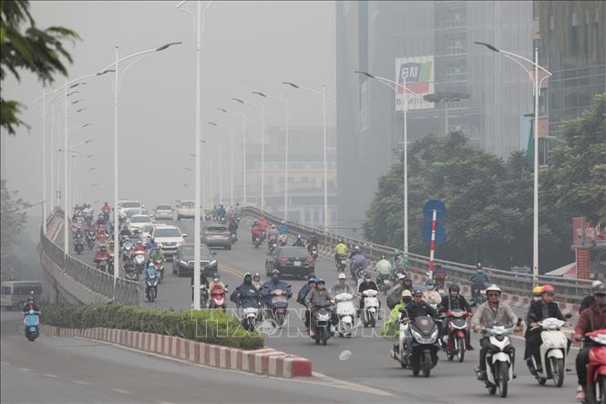 ở Hà Nội có chỉ số AQI màu cam, mức không tốt cho nhóm nhạy cảm.
