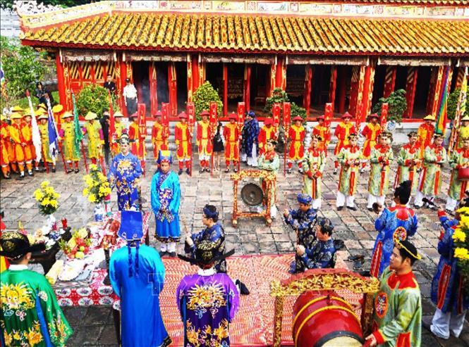Một nghi lễ diễn ra vào ngày Tết truyền thống
