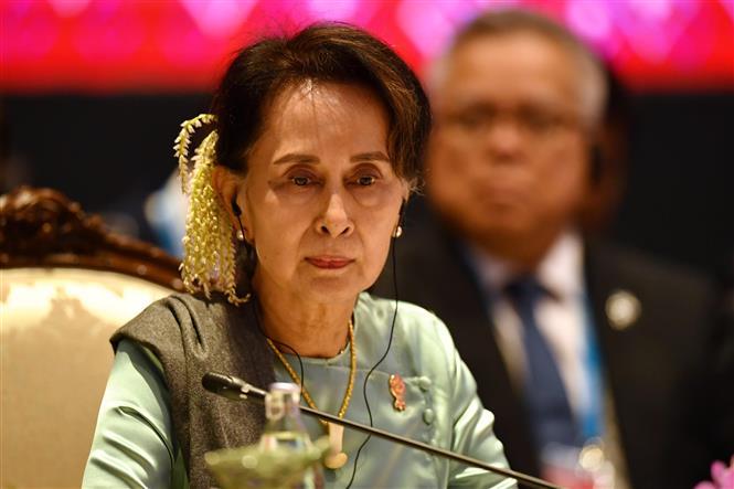 Trong ảnh (tư liệu): Cố vấn nhà nước Myanmar Aung San Suu Kyi tại một hội nghị ở Bangkok, Thái Lan ngày 4/11/2019. Ảnh: AFP/TTXVN