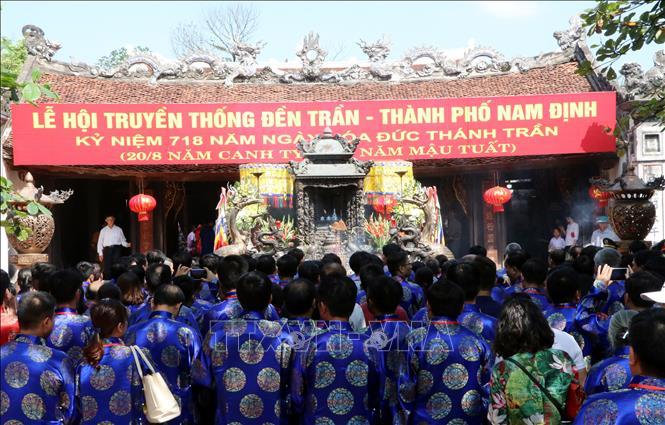 Đền Trần khai hội hàng năm