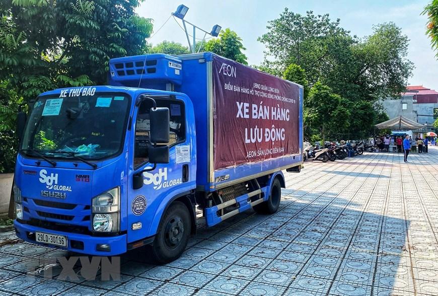 Dịch Covid-19, Dịch Covid-19 tại Hà Nội, Hà Nội bán hàng lưu động, Hà Nội bán hàng lưu động phục vụ người dân, bán hàng lưu động mùa dịch Covid-19, Covid-19