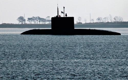 Một tàu ngầm lớp Varshavyanka. Ảnh: Sputnik