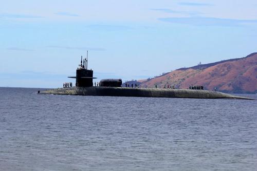 Tàu ngầm lớp Ohio. Ảnh: AP