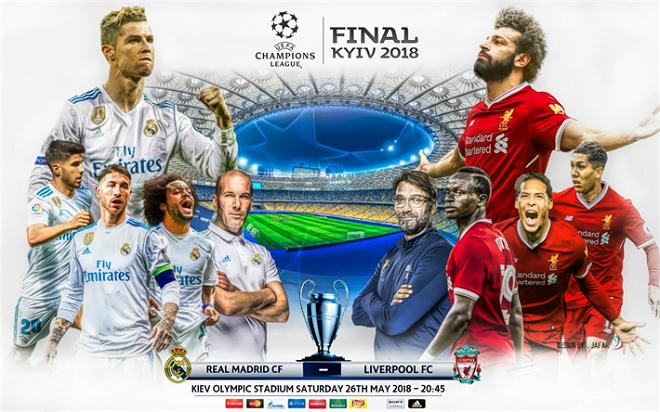 Dự đoán và tỉ lệ trận Real Madrid - Liverpool (01h45, 27/05)