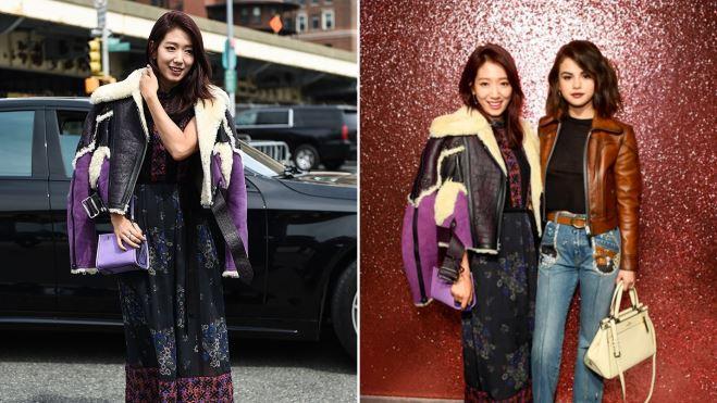 Park Shin Hye với street style cực chất trong Tuần lễ thời trang New York