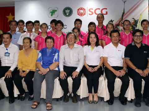 Cầu lông TP.HCM hợp tác với Tập đoàn SCG Thái Lan thúc đẩy phát triển cầu lông. Ảnh: Bình Minh