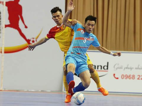 Hải Phương Nam Phú Nhuận (xanh) dù phải thi đấu từ vòng loại nhưng đang có phong độ rất cao ở vòng chung kết giải VĐQG năm nay. Ảnh: Quang Thắng