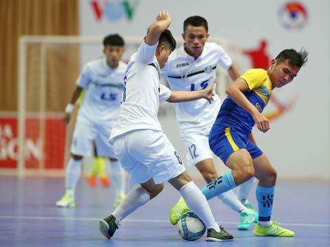 Thái Sơn Nam tô điểm ngày đăng quang lần thứ 7 giải futsal VĐQG bằng chiến thắng đậm Sanest Tourist Khánh Hòa. Ảnh: Quang Phương