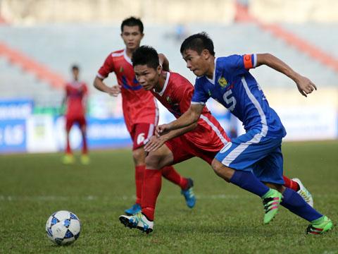 Không phải SLNA, Viettel (đỏ) và PVF (xanh) mới là những thế lực lớn nhất bóng đá trẻ Việt Nam hiện tại. Ảnh: Quang Liêm