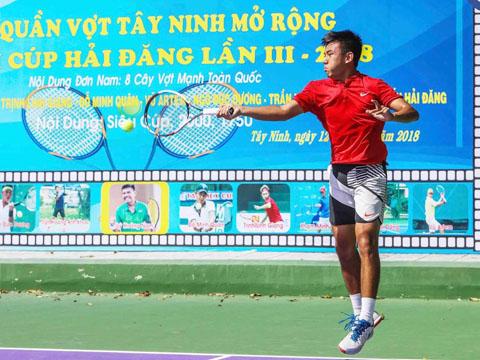 Tay vợt gốc Tây Ninh sẽ thi đấu trên sân nhà khá nhiều năm nay. Ảnh: LT