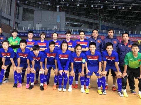 Đội tuyển futsal nữ Việt Nam sẽ vào bán kết nếu chơi đúng khả năng. Ảnh: VFF