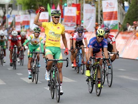 Nguyễn Thành Tâm đang tiến sát danh hiệu danh giá nhất cuộc đua năm nay. Ảnh: BM