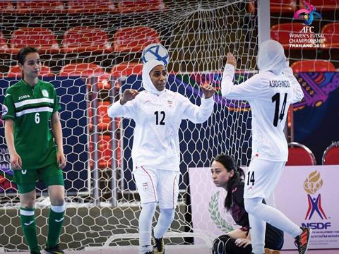 Iran vẫn ở đẳng cấp khác biệt so với futsal nữ Việt Nam. Ảnh: AFC