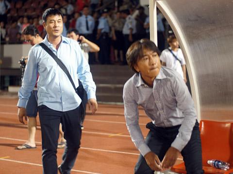 HLV Hữu Thắng đã có 1 điểm đầu tiên từ khi giữ chức Chủ tịch TP.HCM. Ảnh: Quang Liêm