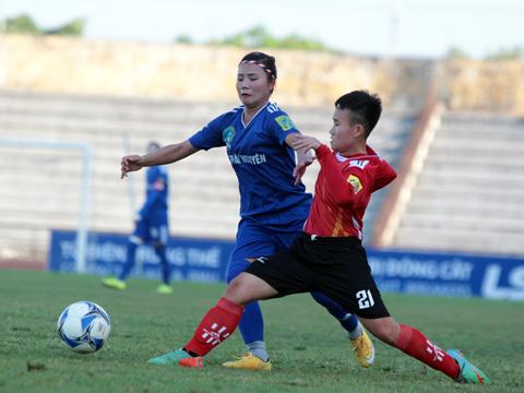 TNG Thái Nguyên (xanh) đã có 3 điểm đầu tiên ở giải năm nay