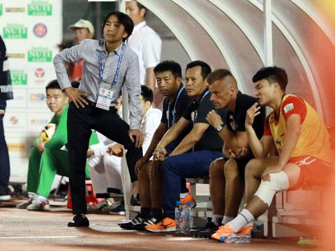 HLV Miura không cho rằng đội mình bị ảnh hưởng bởi World Cup. Ảnh: Quang Liêm