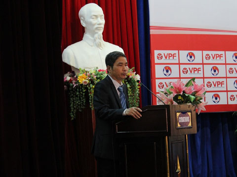 Cựu Trưởng giải V-League Dương Nghiệp Khôi sẽ ra mắt CLB Sài Gòn tối nay với vai trò Chủ tịch CLB. Ảnh: VPF