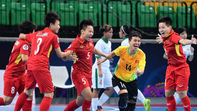 Việt Nam vào bán kết giải futsal nữ châu Á