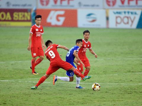 F.Tây Ninh đã trả món nợ đã thua 1-5 với Viettel ở lượt đi bằng chiến thắng tối thiểu trên sân nhà vòng 13. Ảnh: VPF