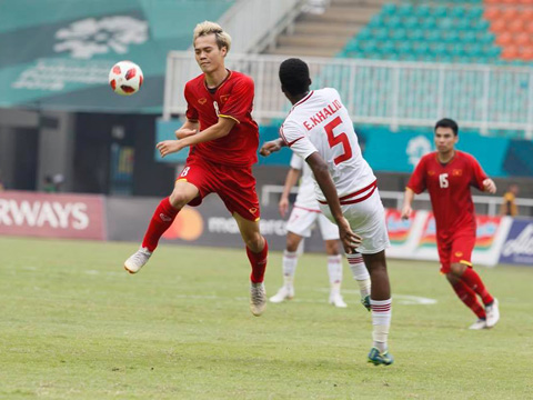 Chơi hay hơn nhưng U23 Việt Nam vẫn không thể có tấm HCĐ ASIAD. Ảnh: Hoàng Linh
