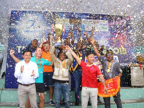 Nhà vô địch Thiên Long League 2018 là CLB đến từ châu Phi African Team Việt Nam. Ảnh: Đình Viên