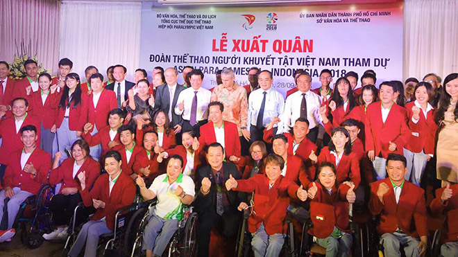 Đoàn thể thao người khuyết tật Việt Nam đặt mục tiêu 9 HCV Đại hội châu Á
