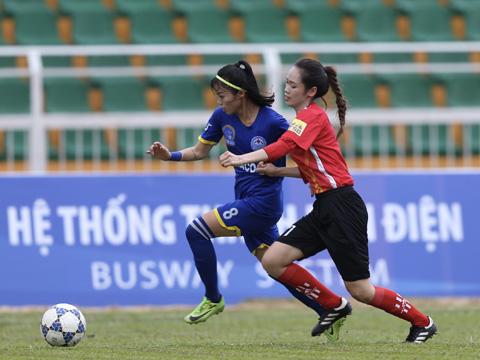 3 điểm trận này giúp các cô gái đến từ vùng Mỏ lấy luôn vị trí số 1 của Hà Nội. Ảnh: Anh Duy