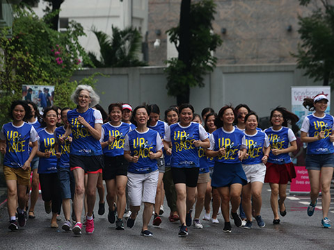 Đã có tới hơn 3 vạn người tham dự chương trình chạy bộ năm nay. Ảnh: BM