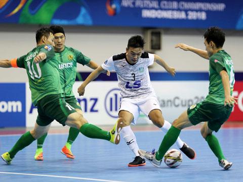 Thái Sơn Nam đã đại thắng đến 10-0 đội bóng Hàn Quốc trong ngày ra quân giải CLB châu Á chiều 1/8. Ảnh: Anh Lập