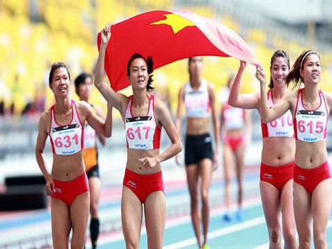 Các VĐV điền kinh Việt Nam sẽ cọ sát trước thềm ASIAD 2018 bằng giải điền kinh quốc tế TP.HCM 2018. Ảnh: TTVH
