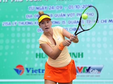 Tay vợt Fodor Csilla đã thể hiện rất tốt trước hạt giống số 1 Alize Lim trong trận chung kết. Ảnh: Trần Tú