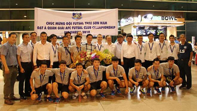 Thái Sơn Nam nhận thưởng 1 tỷ đồng sau kỳ tích futsal CLB châu Á 2018