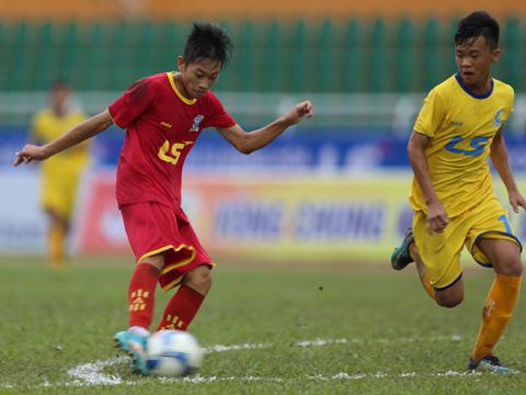 Sanna Khánh Hòa gây bất ngờ lớn khi giành vé sớm nhất vào bán kết VCK U15 Quốc Gia Cúp Thái Sơn Bắc 2018. Ảnh: Anh Duy