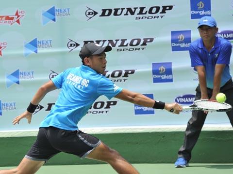 Lý Hoàng Nam là hy vọng lớn nhất của quần vợt Việt Nam ở Indonesia lần này. Ảnh: TN