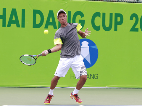 Tay vợt Ryoma trở thành bại tướng của Nguyễn Văn Phương. Ảnh: BM