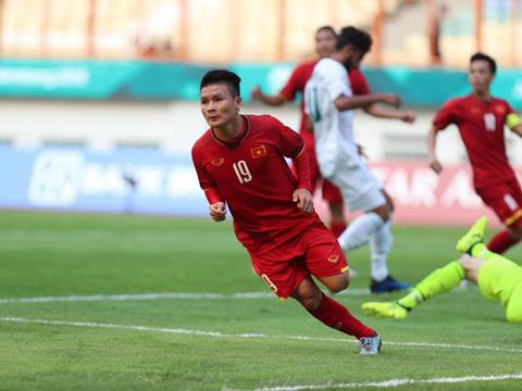 Quang Hải ghi bàn mở ra chiến thắng cho U23 Việt Nam. Ảnh: Hoàng Linh